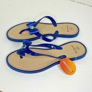Sole Selection Womens Sz L 9 10 New Blue flip flop